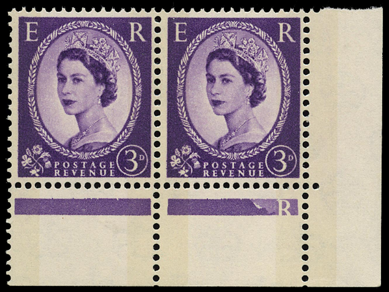 GB 1960  SG615aa Mint - Phantom 'R' variety