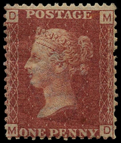 GB 1879  SG43 Pl.224 Mint Unused o.g. example (MD)