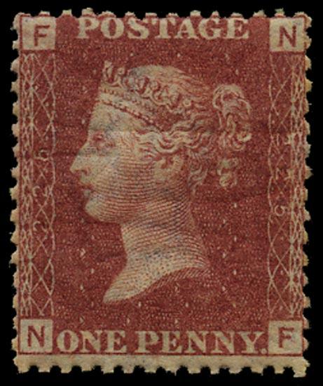 GB 1879  SG43 Pl.225 Mint Unused o.g. example (NF)
