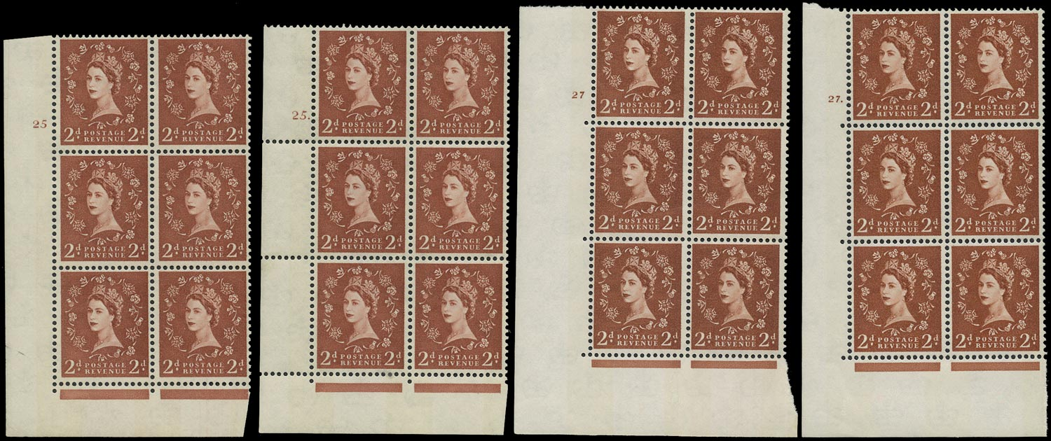 GB 1967  SG613a Mint - Two 9.5mm phosphor bands reacting violet