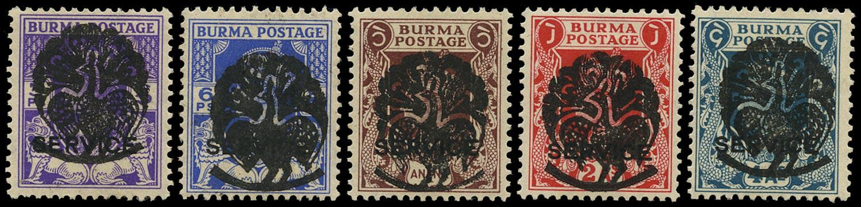 BURMA JAPANESE OCC 1942  SGJ7/9, 10/11 Mint