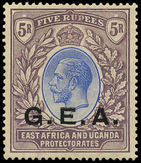 TANGANYIKA 1921  SG68 Mint