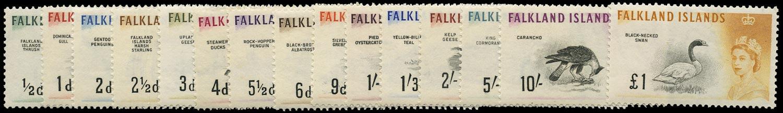 FALKLAND ISLANDS 1960  SG193/207 Mint unmounted Birds set of 15 to £1