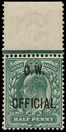 GB 1902  SGO36 Official unmounted o.g. example