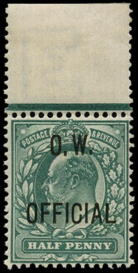 GB 1902  SGO36 Official unmounted o.g. example