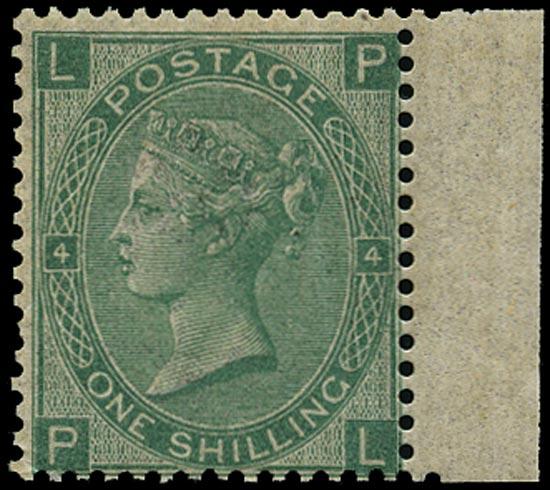 GB 1867  SG117 Pl.4 Mint unused o.g. example
