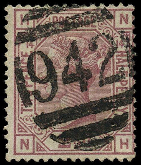 CYPRUS 1878  SGZ18 Pl.14 Cancel