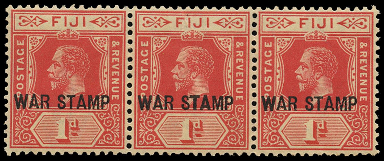 FIJI 1915  SG139e Mint unmounted 1d bright scarlet War Stamp variety Bold TA