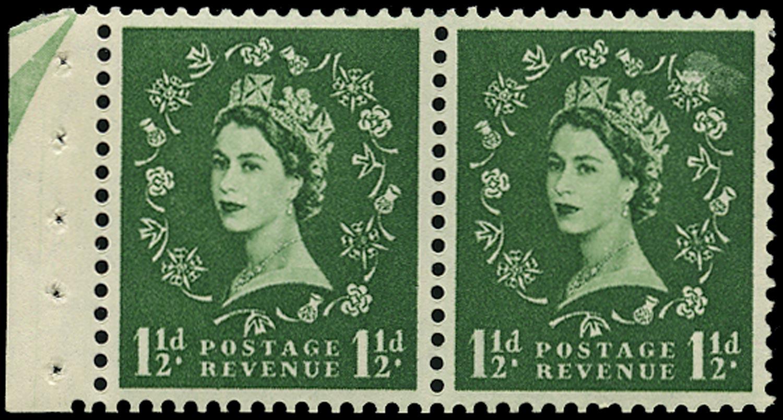 GB 1957  SG542n Booklet pane