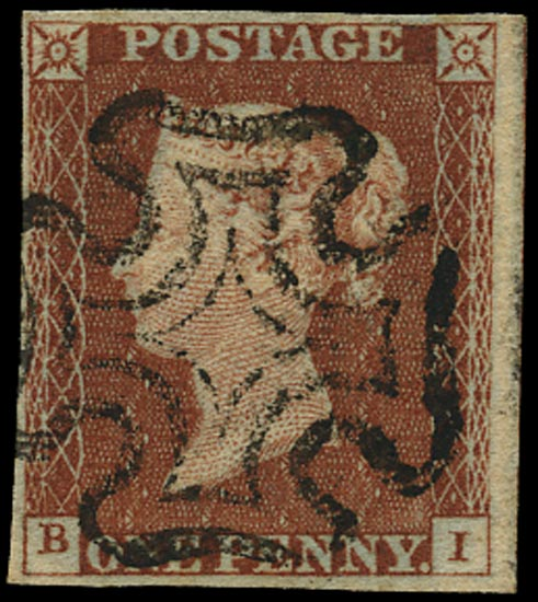 GB 1841  SG8 Pl.31 Used VFU example lettered BI