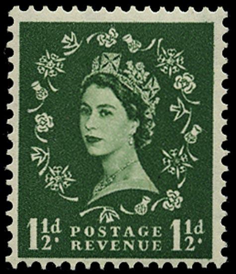 GB 1959  SG589 Mint - Graphite lines, Wmk. Crowns upright