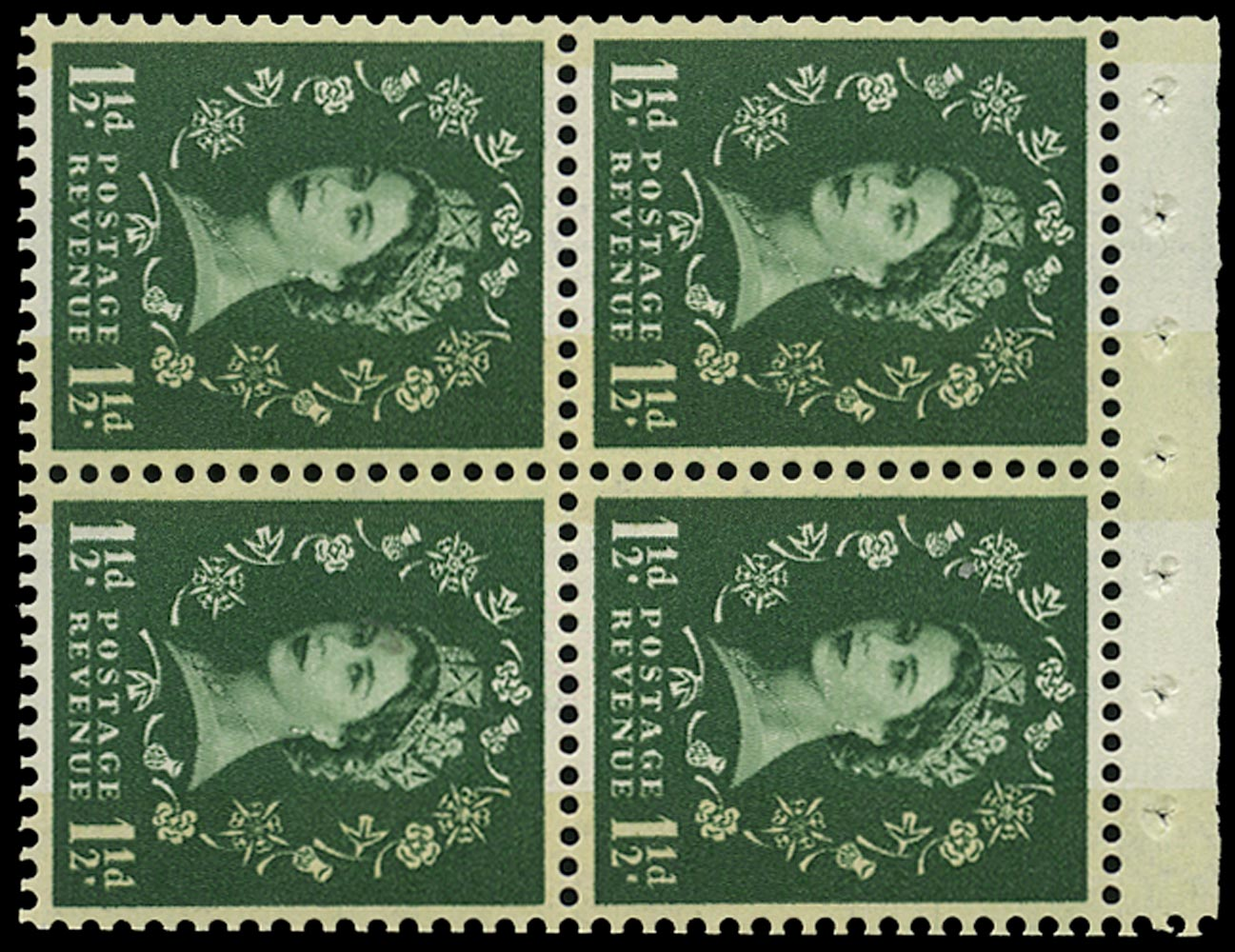 GB 1961  SG612mb Booklet pane - Wmk. Crowns to left