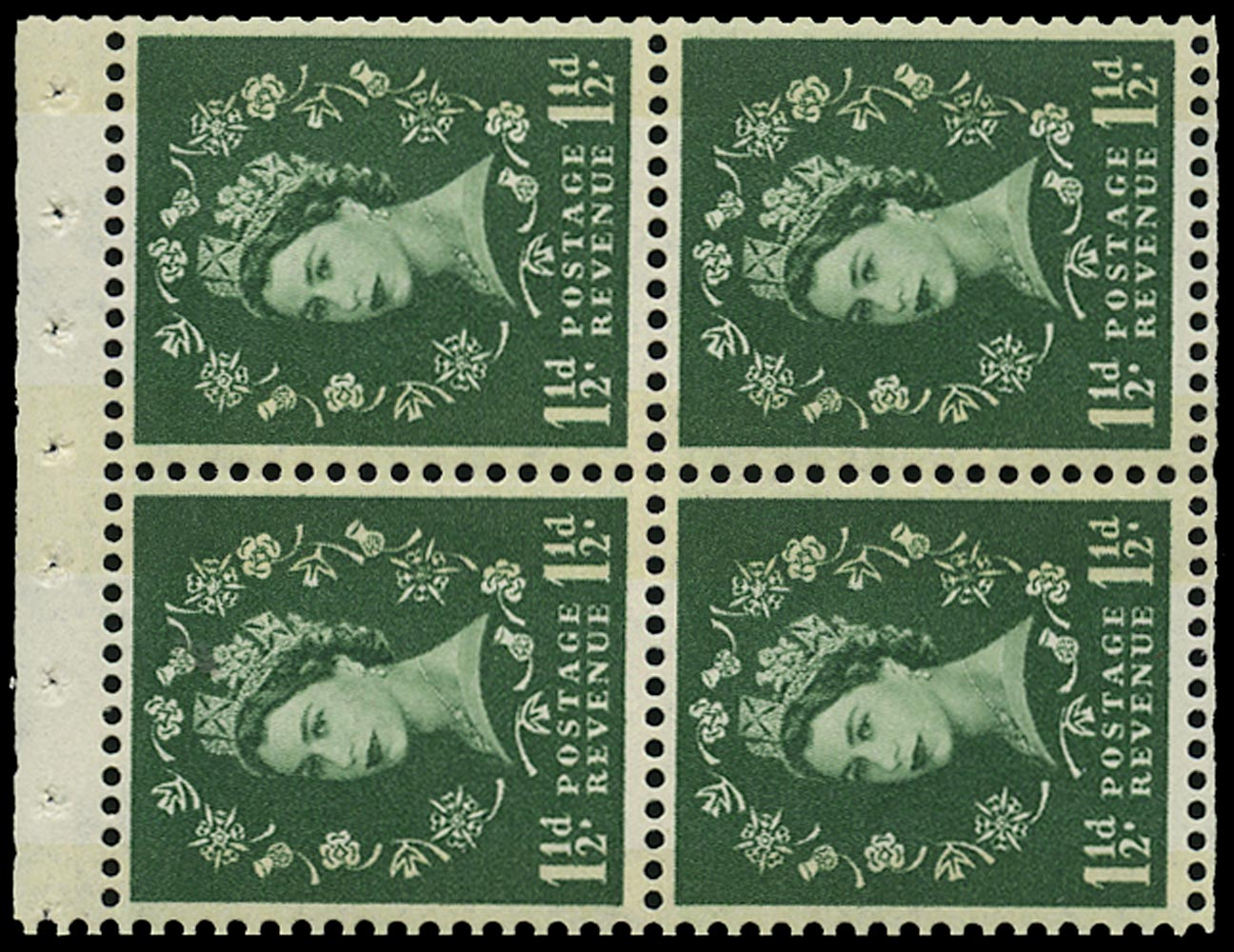 GB 1961  SG612mb Booklet pane - Wmk. Crowns to right
