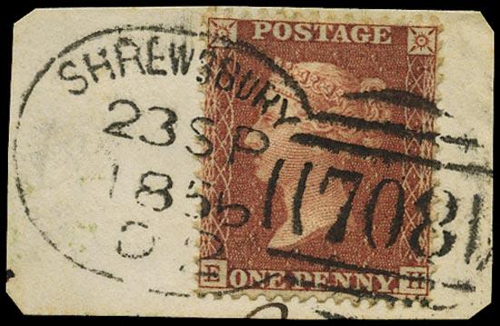 GB 1855  SG29 Pl.31 Used Shrewsbury