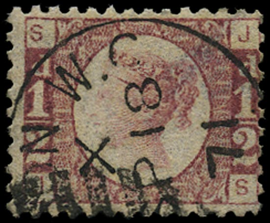 GB 1870  SG48 Pl.1 Used VFU example (JS)