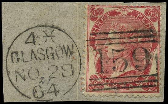 GB 1862  SG76 Pl.2 Used Glasgow