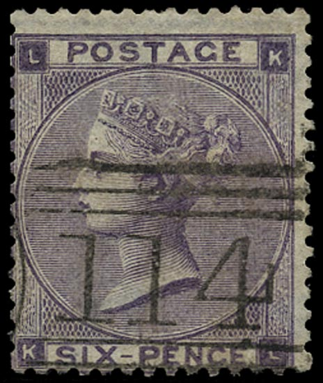 GB 1863  SG83 Pl.3 Used Dundee