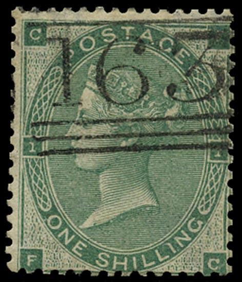 GB 1862  SG90 Pl.1 Used Greenock