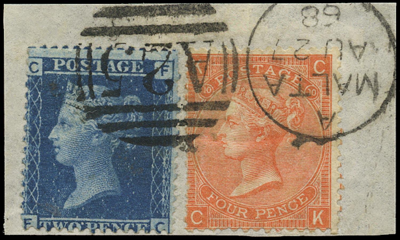 GB 1868  SG45, 94 Used Malta