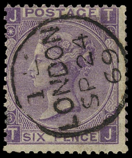 GB 1869  SG108 Pl.8 Used London cds example (TJ)