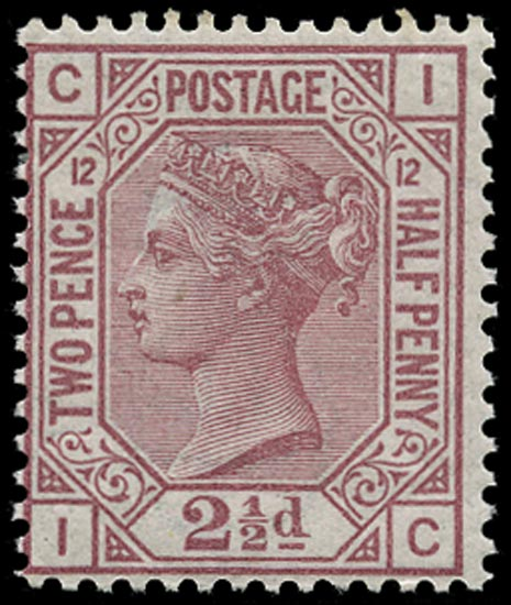 GB 1878  SG141 Pl.12 Mint U/M o.g. example