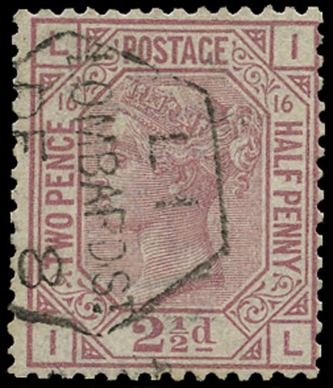 GB 1878  SG141 Pl.16 Used Lombard St