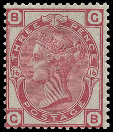 GB 1875  SG143 Pl.16 Mint U/M o.g. example