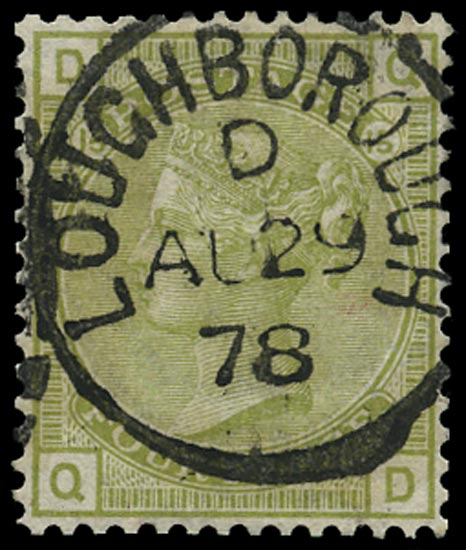 GB 1877  SG153 Pl.15 Used Loughborough cds