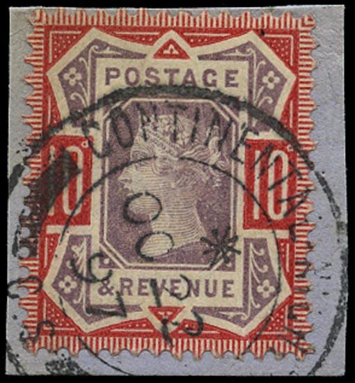 GB 1890  SG210b Pl.21 Used Continental Night Mail cancel