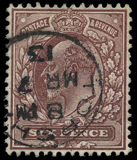 GB 1912  SG297var Used Topsham cds