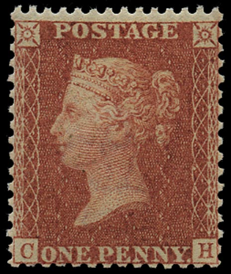 GB 1856  SG37 Pl.30 Mint unmounted o.g. example