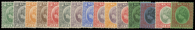 MALAYA - PERAK 1935  SG88/102 Mint