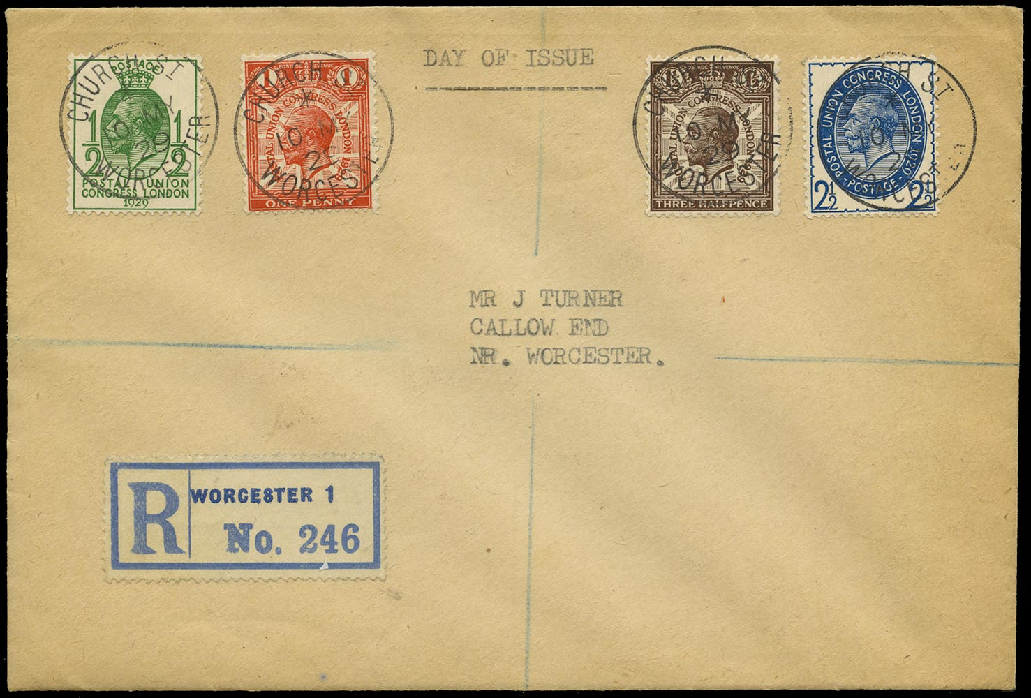 GB 1929  SG434/7 Cover - First Day Cover
