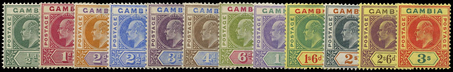 GAMBIA 1902  SG45/56 Mint