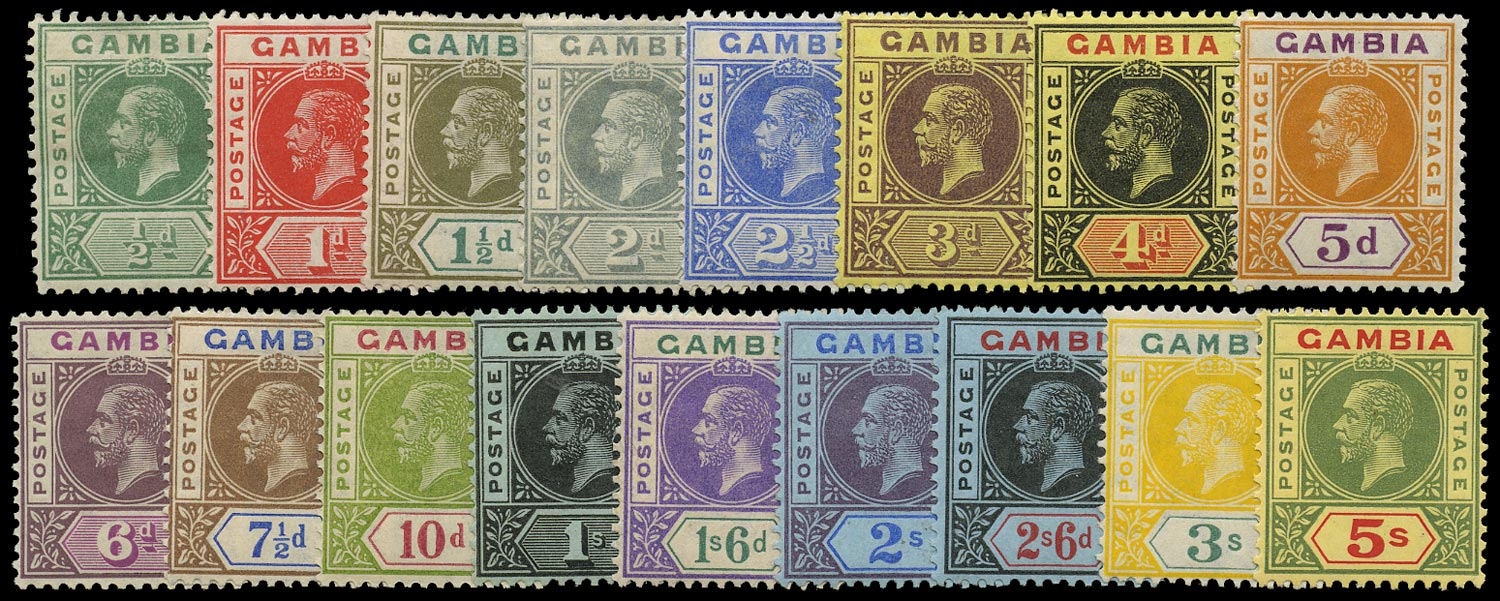 GAMBIA 1912  SG86/102 Mint