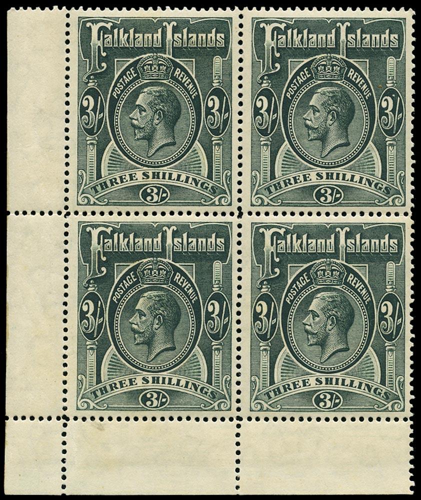 FALKLAND ISLANDS 1912  SG66 Mint Block of Four