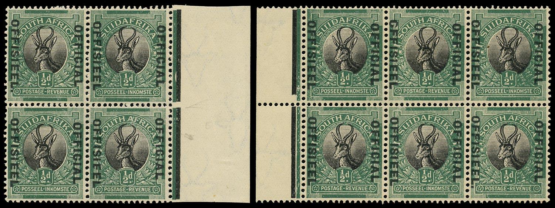 SOUTH AFRICA 1929  SGO7/a, var Official