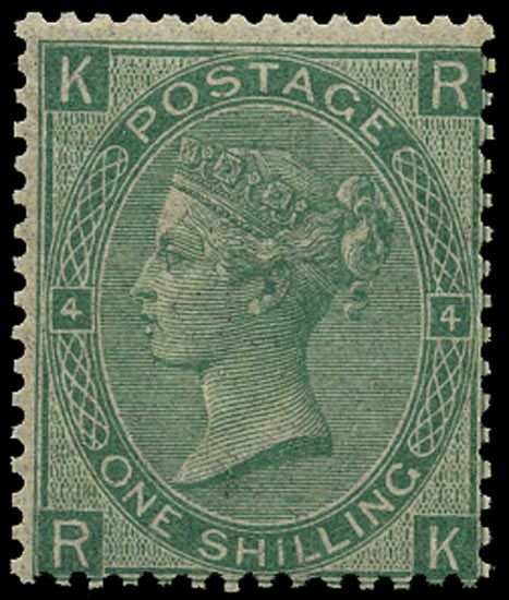 GB 1867  SG117 Pl.4 Mint unmounted o.g. example (RK)