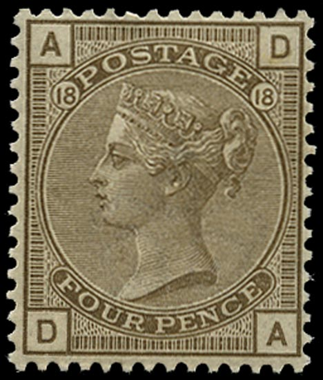 GB 1882  SG160 Pl.18 Mint unused o.g. example (DA)