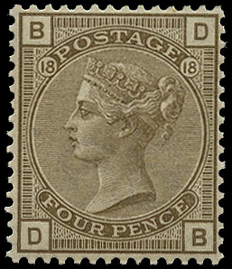 GB 1882  SG160 Pl.18 Mint unused o.g. example (DB)