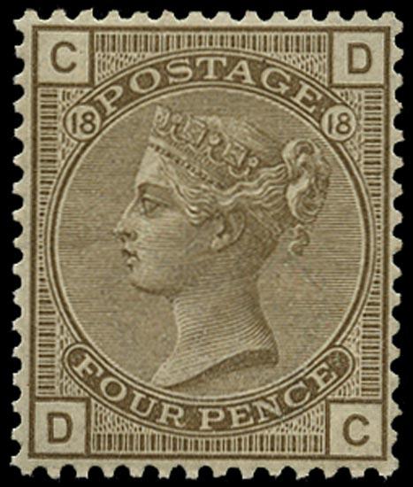 GB 1882  SG160 Pl.18 Mint unused o.g. example (DC)