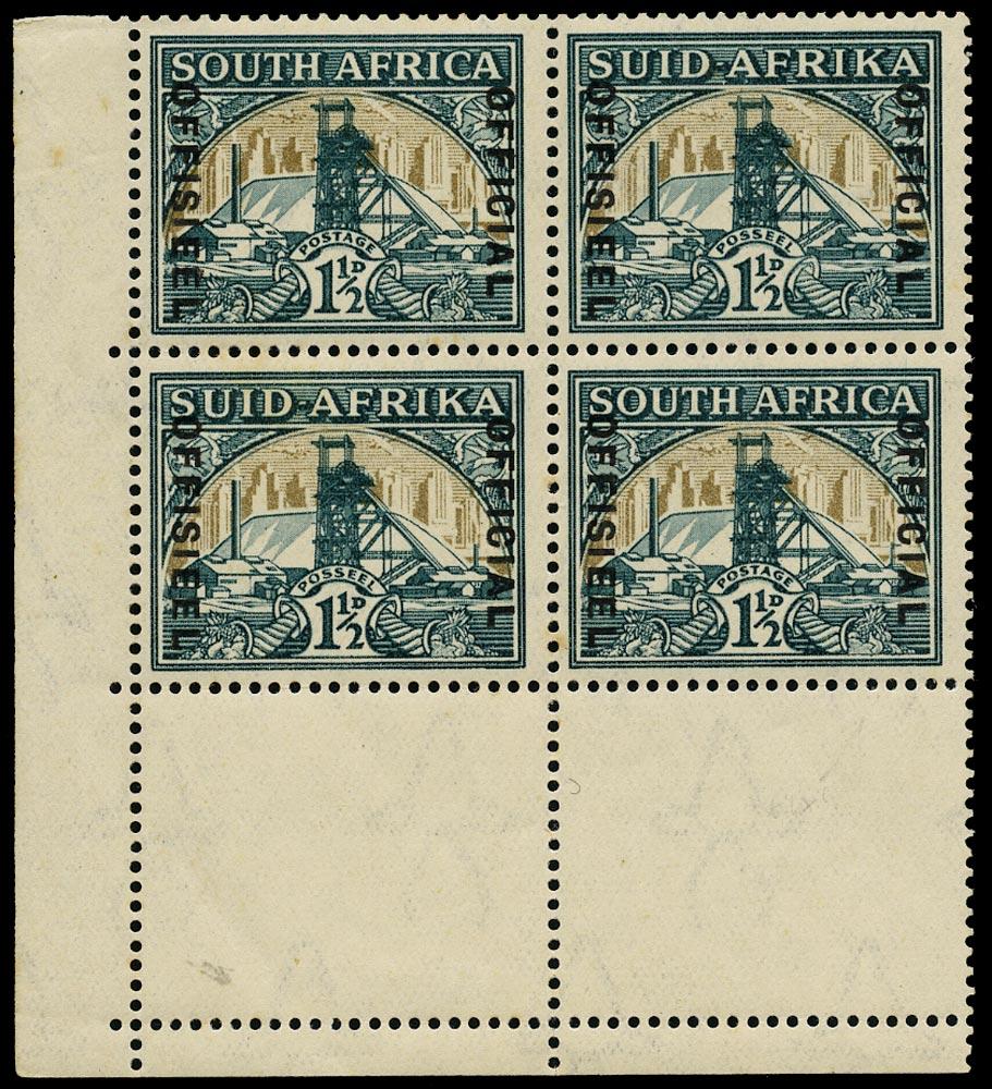 SOUTH AFRICA 1935  SGO22/ac Official