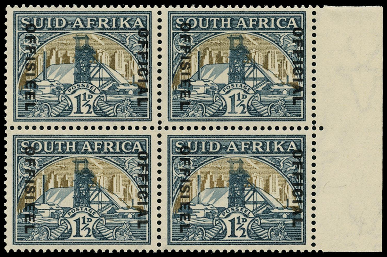 SOUTH AFRICA 1935  SGO22aw/var Official