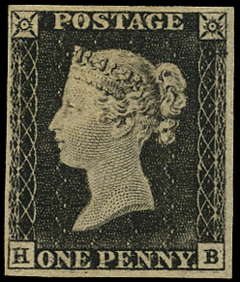 GB 1840  SG3 Pl.1a Penny Black unused o.g. example