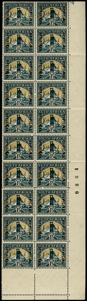 SOUTH AFRICA 1935  SGO22b, var Official
