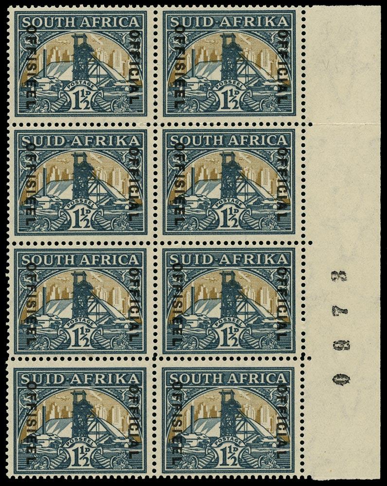 SOUTH AFRICA 1935  SGO22b, var Official