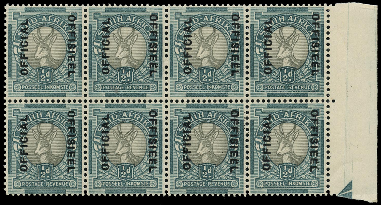 SOUTH AFRICA 1937  SGO32 Official
