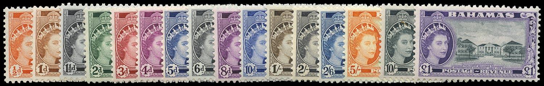 BAHAMAS 1954  SG201/16 Mint
