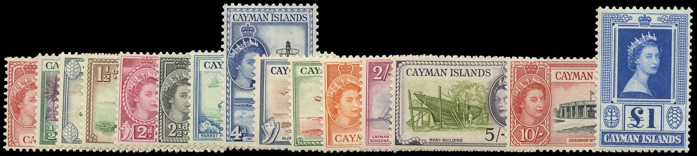 CAYMAN ISLANDS 1953  SG148/61a Mint Definitive set