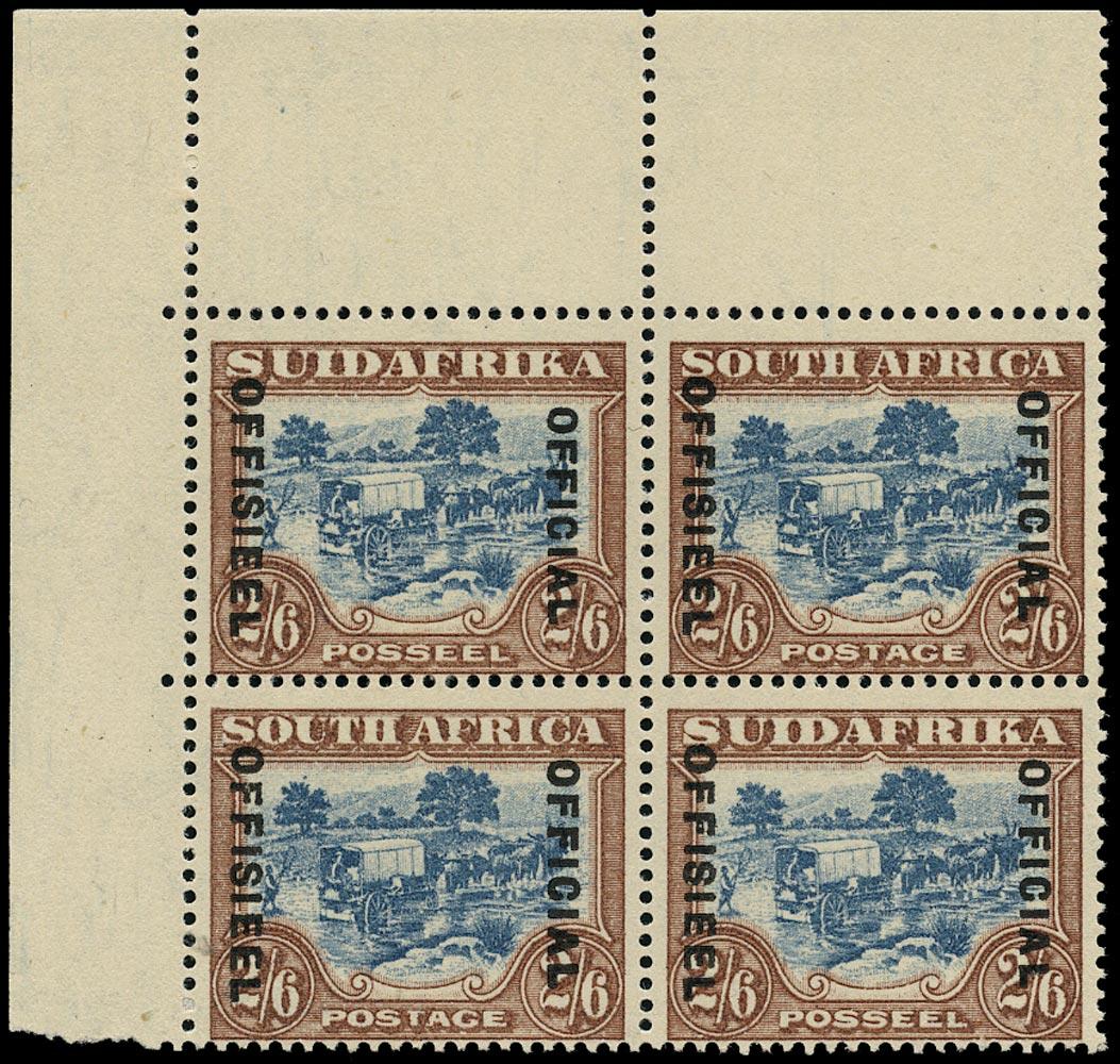SOUTH AFRICA 1930  SGO19, var Official